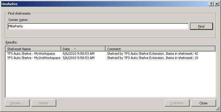 TFS Auto Shelve - Visual Studio Marketplace